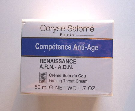 S0082 Coryse Salome COMPETENCE ANTI-AGE RENAISSANCE A.R.N.-A.D.N. FIRMING THROAT CREAM, 1.7 Oz(50ml)
