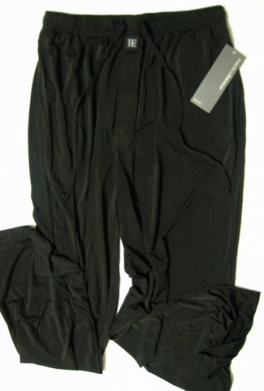 PERRY ELLIS PORTFOLIO BLACK SILKY SLEEP PANT 823000, SIZE LARGE