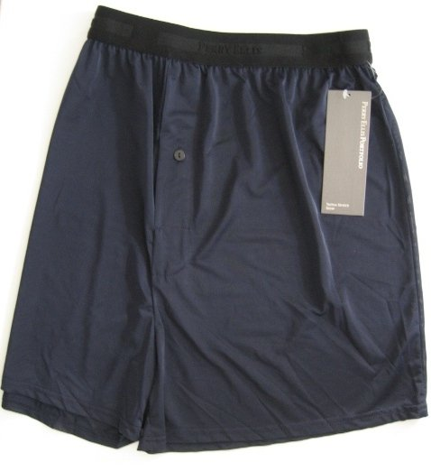 A0103 PERRY ELLIS PORTFOLIO TECHNO-STRETCH NAVY BOXER 163633, SIZE MEDIUM