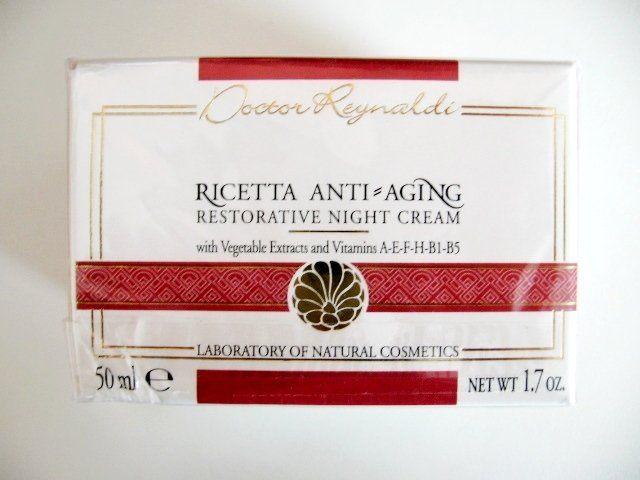 S0157 Dottoressa Reynaldi Ricetta Anti-Aging Restorative Night Cream 50ml New