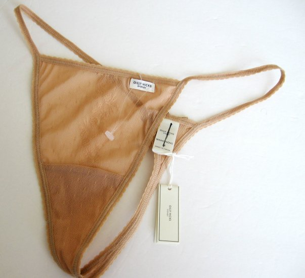 A0083T Gilly Hicks Sydney by Abercrombie NEW Floral Sheer Mesh Skinny Thong , SIZE EXTRA SMALL