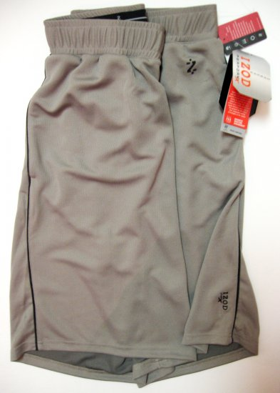 IZOD MEN'S PERFORMX GRAY CARBON COCONA SPORTS SHORT SIZE EXTRA LARGE