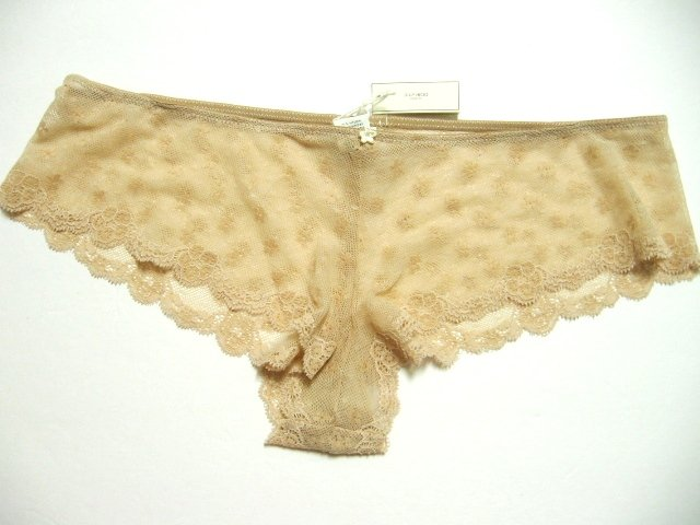 A0081 Abercrombie Gilly Hicks Sheer Floral Lace Short Nude SIZE SMALL