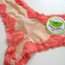 A0298 HONEYDEW INTIMATES PAPAYA MESH/LACE BOYSHORTS, 455, SIZE SMALL