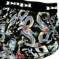 PAPI TATTOO DRAGON SEMI-SHEER LOGO WAISTBAND TRUNK, 626204, SIZE SMALL