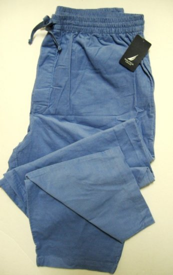 NAUTICA MEN'S BLUE CORDUROY LONG SLEEP PANT 749M87, SIZE LARGE