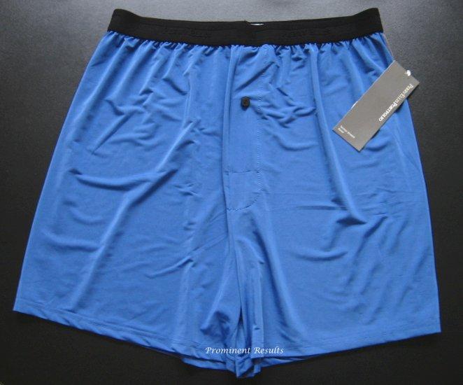 A0103 PERRY ELLIS PORTFOLIO TECHNO-STRETCH BLUE BOXER 163633, SIZE LARGE