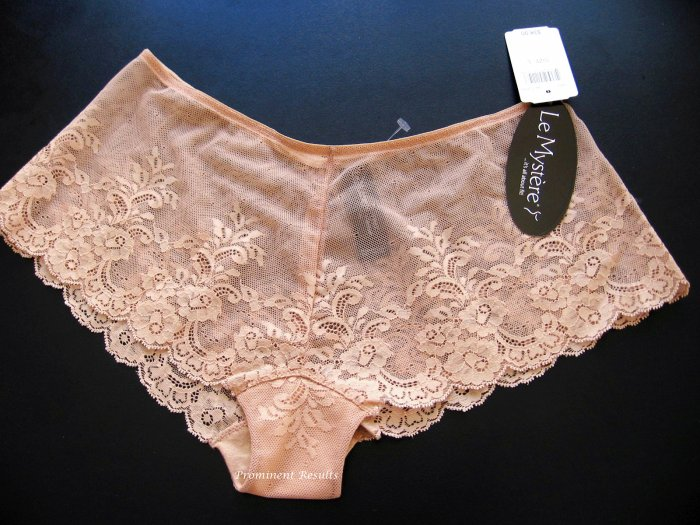 A0131 LE MYSTERE NATURAL EMMA LACE BOYSHORT 7465, MEDIUM