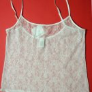 A0238 Calvin Klein Perfect Fit lace Camisole F2858 WHITE SIZE LARGE