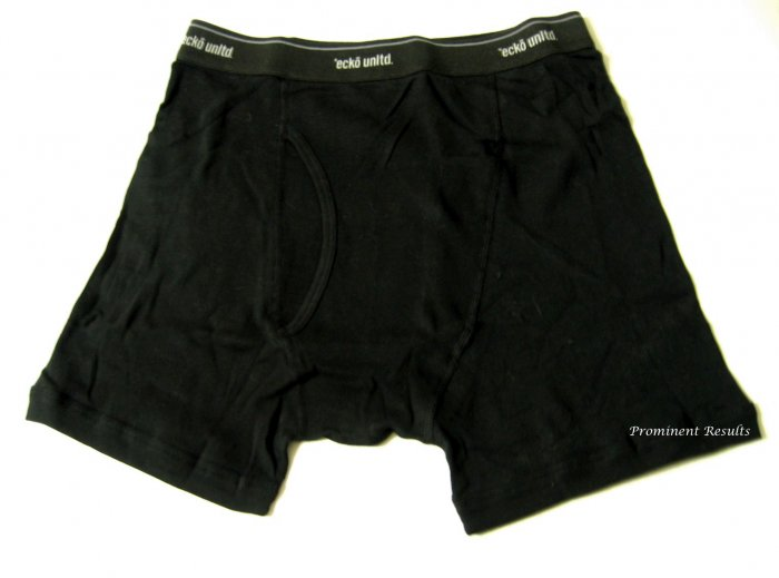 A0257 ECKO UNLTD KNIT BOXER BRIEF 312BXECD, BLACK, SIZE EXTRA LARGE