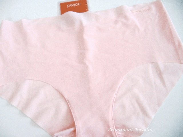 A0256 Calvin Klein Naked Unfinished Edge Hipster F2637 PINK SIZE MEDIUM
