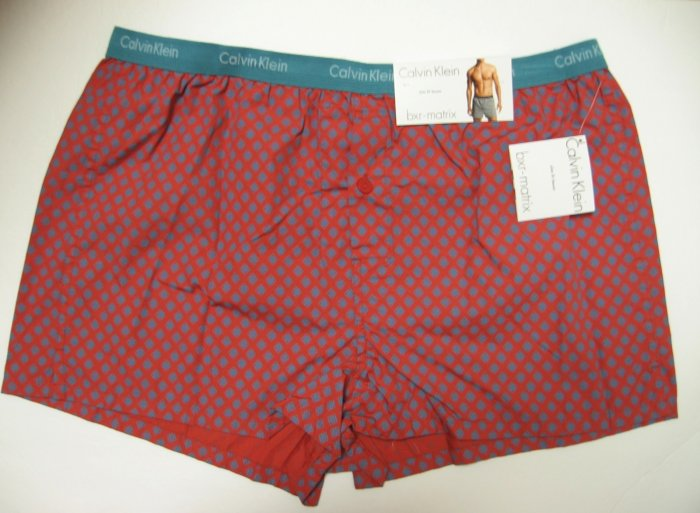 A0279 Calvin Klein Men's Slim Fit Boxer U1513 URCHIN ARGYLE , SIZE EXTRA LARGE