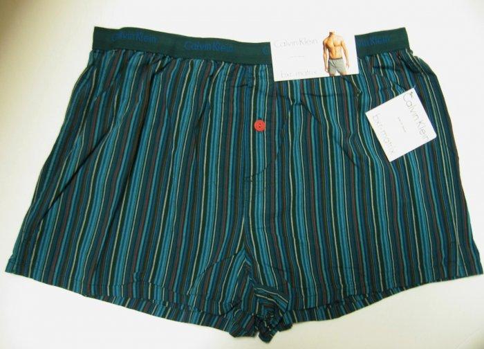 A0279 Calvin Klein Men's Slim Fit Boxer U1513 QUAID STRIPES, SIZE LARGE