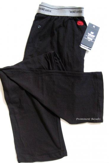 A0375 ecko unltd Men's Black Logo Knit Lounge Pant EK8001P  SIZE LARGE
