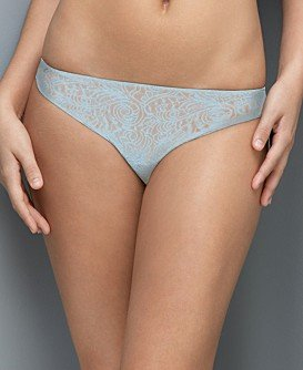 A0124 CALVIN KLEIN BLUE TATTOO LACE THONG D3094, LARGE