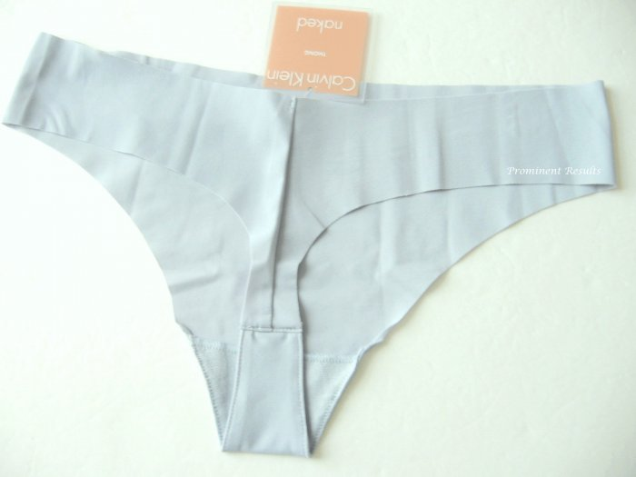 A0256 CALVIN KLEIN LIGHT BLUE NAKED UNFINISHED EDGE THONG F2636, SIZE MEDIUM