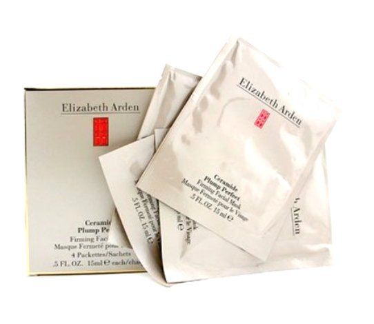 S0036 ELIZABETH ARDEN CERAMIDE PLUMP PERFECT FIRMING MASK 4 PACKETTES(4 x 15ML each)