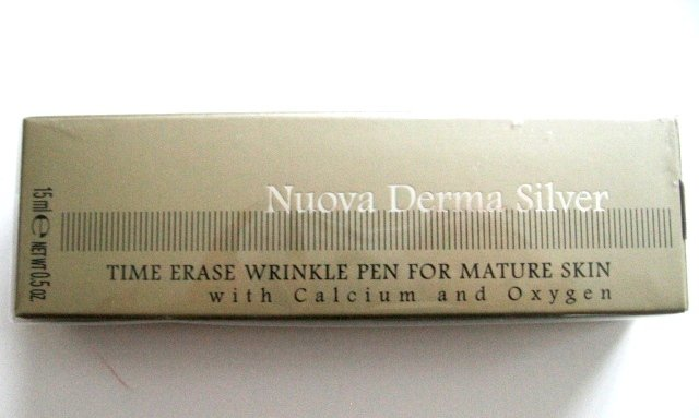 S061 NUOVA DERMA SILVER TIME ERASE WRINKLE PEN, FOR MATURE SKIN, 15ML, ITALY