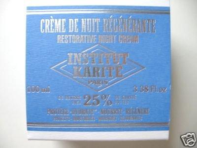 S0066 INSTITUT KARITE RESTORATIVE NIGHT CREAM 25% SHEA BUTTER - PARIS 3.38 Fl. oz