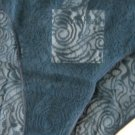 A0390 Calvin Klein Tattoo Sheer Lace Hipster D3095 SIZE MEDIUM (6) SLATE BLUE