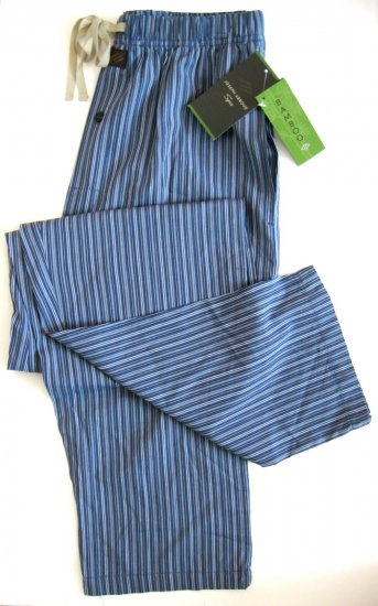 A0323 JOSEPH ABBOUD SPA BLUE STRIPES BAMBOO RAYON LOUNGE PANT SIZE MEDIUM