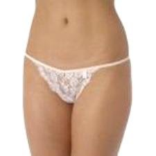 A0050 DKNY Floral Lace Galloon G-String 476539, Pink SIZE Large
