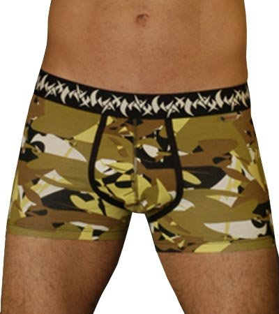 A0014 WAX MEN'S EARTH FLEX LO RISE TRUNK EARTH WX7003, MEDIUM