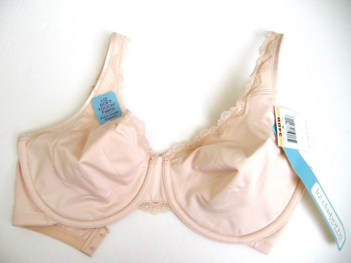 A0435 LIZ CLAIBORNE FULL SUPPOTT SOFT TOUCH BRA 8419 NATURAL SIZE 38DD