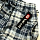 A0343 ECKO UNLTD NAVY GRID WOVEN LOUNGE  PANT EK09P4  SIZE MEDIUM