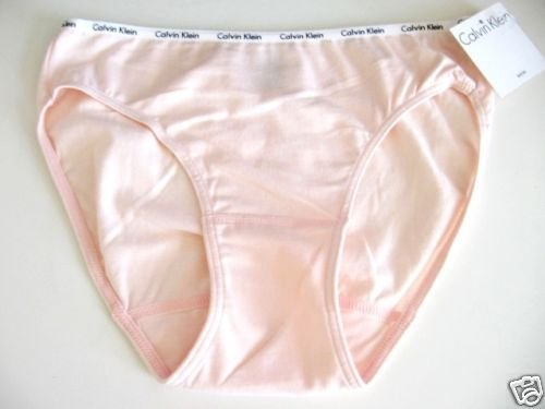 A0438 Calvin Klein Logo Cotton Bikini D1252D PINK MEDIUM NEW