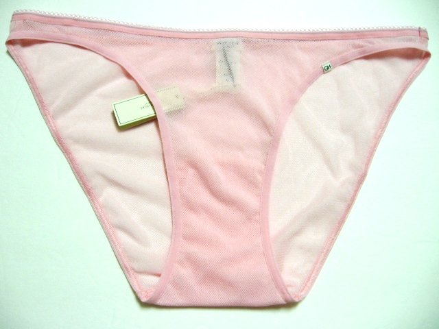 A0067 ABERCROMBIE GILLY HICKS SHEER MESH BIKINI PINK SIZE = LARGE