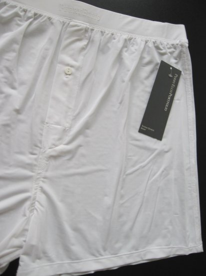 A0137 Perry Ellis Portfolio Techno Stretch Boxer 163000 WHITE SIZE = LARGE