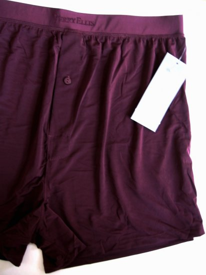 A0137 Perry Ellis Portfolio Techno Stretch Boxer 163000 Burgundy SIZE = EXTRA LARGE