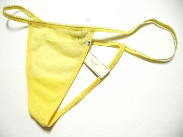 A0477 ABERCROMBIE GILLY HICKS SHEER MESH G-STRING LEMON SIZE = EXTRA SMALL