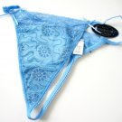 A0333 NEXT GENERATION GLOW FLORAL MESH G-STRING BLUE 10