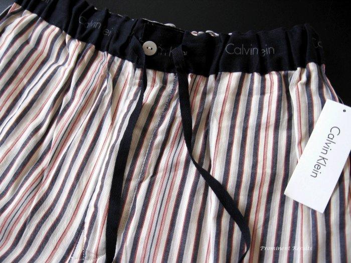A0184 CALVIN KLEIN TRI-COLOR STRIPS WOVEN LOUNGE  PANT U7010D-90Q, SIZE LARGE