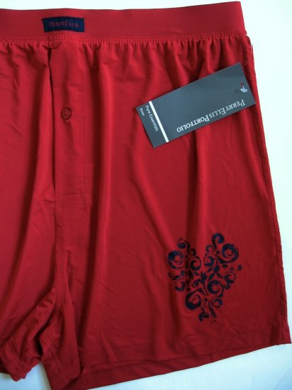 A0289 PERRY ELLIS ESSENTIALS LUXURY BOXER 163889 RED SIZE =  LARGE