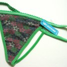 A0192 HOT BOTTOMS STRETCH COTTON G-STRING COLORFUL STAR SIZE = LARGE