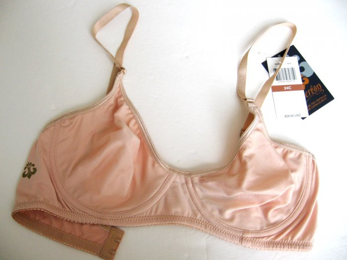 A0193 DEREON by Beyonce SEMI-SHEER SOLID POY BRA NUDE SIZE = 34C
