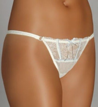 A0177 DKNY BELLE DU JOUR LACE THONG 442507 IVORY, SIZE SMALL