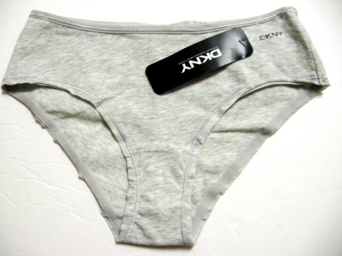 A0537 DKNY COTTON LYCRA LOW RISE CHEEKY 474652 GREY SIZE S/5