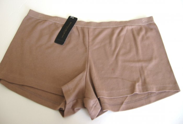 A0541 DONNA KARAN COTTON LOW RISE SHORT 374051 MOCKA SIZE EXTRA LARGE
