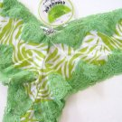 A0182 HONEYDEW GREEN ZEBRA LACE/MESH BOYSHORT 380 SIZE= SMALL