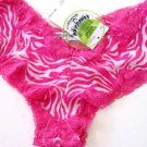 A0182 HONEYDEW RASPBERRY ZEBRA LACE/MESH BOYSHORT 380 SIZE= LARGE