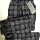 A0027 PERRY ELLIS PLAID FLANNEL LOUNGE PANT 862521 PURPLE, SIZE LARGE