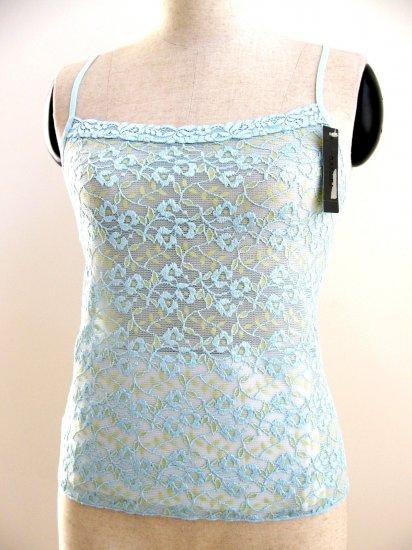 A0546  NATORI Underneath Stretch Lace Camisole, 142006, BLUE, Size=MEDIUM