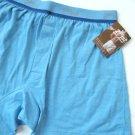 A0410 2(x)ist Men's Pure Cotton Knit Boxer 1800 LIGHT BLUE SIZE=SMALL
