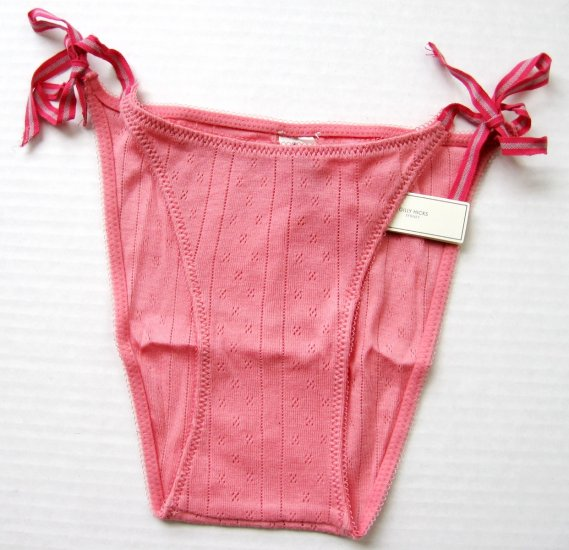 A295B ABERCROMBIE GILLY HICKS BERRY THERMAL SIDE-TIES SKNNY BIKINI, SIZE LARGE