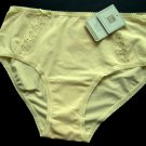 A001F KAREN NEUBURGER knCool PIMA COTTON FULL BRIEF YELLOW SIZE MEDIUM