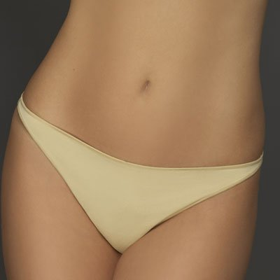 A0264 Le Mystere MICROFIBER LOW RIDE THONG 8355 NUDE , SIZE LARGE